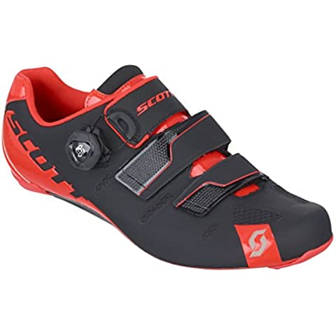 Scott Road Premium scarpe da ciclismo nero/rosso 2016, Uomo, black/neon red gloss, 47