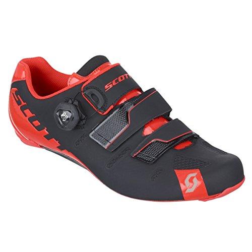 Scott Road Premium scarpe da ciclismo bici da corsa colore nero/rosso 2016 Nero - black/neon red gloss
