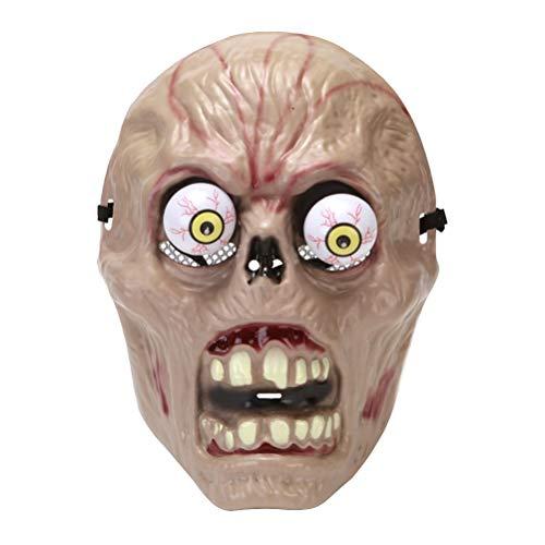 Amosfun Halloween Schädel Masken Frühling Augapfel Horror Maske Maskerade Cosplay Party Bar Dress Up Masken lustige Party Kostüm Prop Zubehör