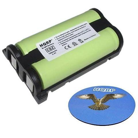 HQRP Batterie pour Panasonic HHR-P513 / HHR-P513A / N4HHEPA00001 / P-P513 / Type 27, RadioShack 23-967 Remplacement
