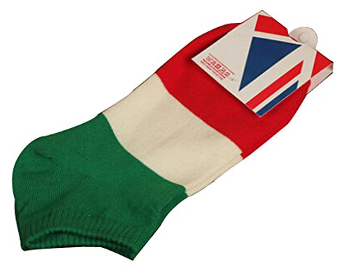 Lot de 2 Flag chaussettes en coton chaussettes pour hommes Blanc Gris Italie