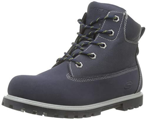 Skechers Jungen Mecca-Outer Venture Klassische Stiefel, Blau (Navy NVY), 37 EU