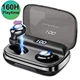 AURSEN Wireless Earbuds Bluetooth 5.0 in-ear Headphones with Mic 160H Playtime Strong Bass Stereo Sound Noise Cancelling IPX6 Waterproof Wireless Earphones with 3500mA Charging Case