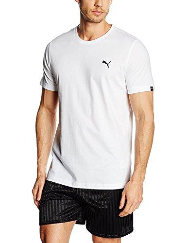 Puma–Maglietta da uomo Essentials, Uomo, bianco bianco