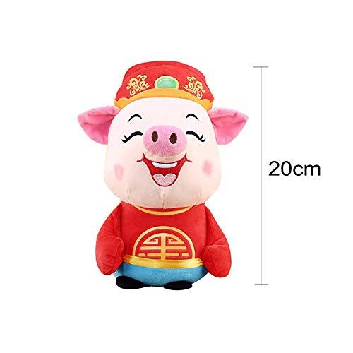 Dreameryoly Bären-Schwein-Jahr-Maskottchen-Taube-Mammon-Schwein-Plüsch spielt Puppe-Neujahrsfest-Geschenk-Verzierung für Kinder Valentinstag-Kostüme Zusätze