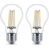 Philips - Bombilla decorativa LED con filamento, E27, 6 W, equivalente a 60