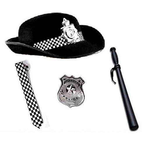 Ladies Frau WPC Polizei Abzeichen, Krawatte Taktstock (Fancy Dress Cop RBFashionsClothing Kit (Fashion Polizei Kostüme Womens)