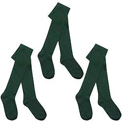 ILCK - Medias - para niña Verde verde 3-4 Años