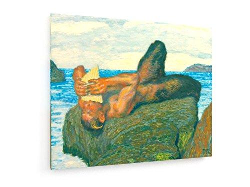 Franz Von Stuck, Syrinxblasender Faun - 60x50 cm - Textil-Leinwandbild auf Keilrahmen - Wand-Bild - Kunst, Gemälde, Foto, Bild auf Leinwand - Alte Meister/Museum