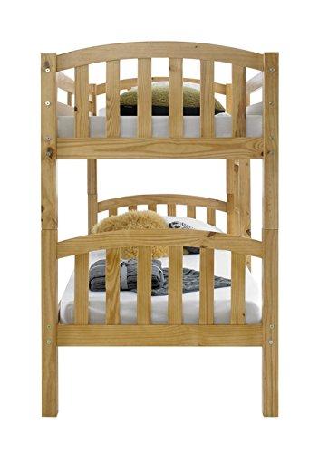 Happy Beds American Solid Honey Pine Wooden Bunk Bed 2x Luxury Spring Mattress Bedroom