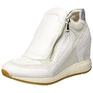 Geox Damen D Nydame A Hohe Sneaker, Weiß (Off White), 41 EU