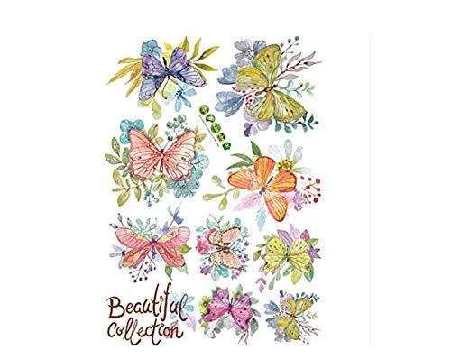 Schöne Sammlung (Wand-Aufkleber Schöne Sammlungs-Blumen-Schmetterlings-Kombination Angebracht Mit Dekorativer Wand-Fenster-Dekoration)