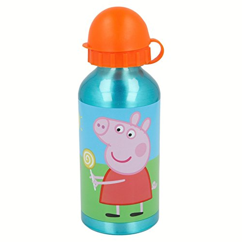 Peppa Pig- Botella cantimplora de Aluminio 400ml (STOR 48634), Centimeters (