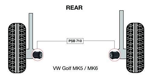 PSB Bush Golf MK5/MK6 (03-09), kit de baguette de montage arrière de bras de fixation extérieure - PSB710