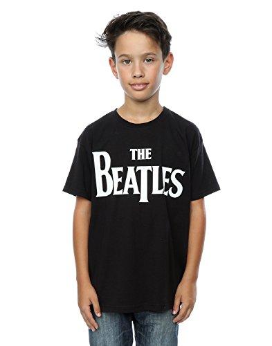 The Beatles Jungen Drop T Logo T-Shirt 3-4 Years Schwarz