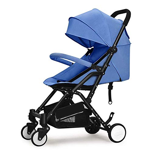 LQRYJDZ Ultraleichter Kinderwagen, zusammenklappbar, Reisesystem, Kinderwagen mit Stubenwagen, All Terrain City Select Kinderwagen (5-Punkt-Sicherheitsgurt) for Neugeborene (Color : D)