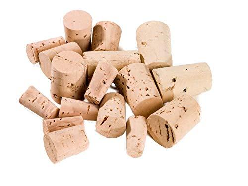 Lot de 100 bouchons, bouchons coniques 22 x 13/10 mm, en liège naturel