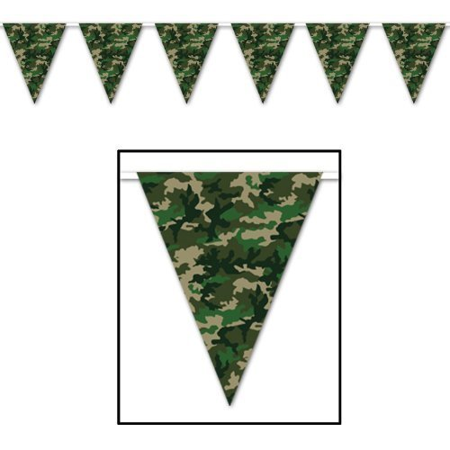 Beistle 50709 Camo Flag Pennant Banner, 10 by 12-Feet by Beistle -