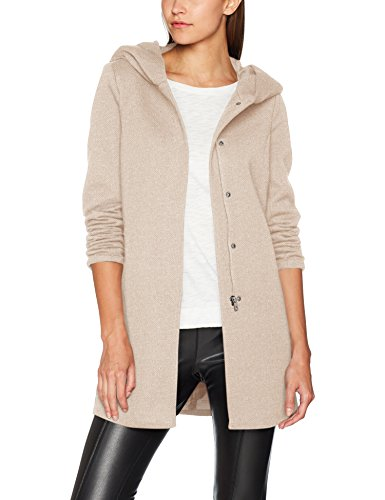 ONLY Damen Mantel Onlsedona Light Coat Otw Noos, Braun (Etherea Detail:Melange), 36 (Herstellergröße: S)