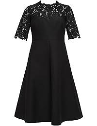 Valentino Damen MB3VABG63600N0 Schwarz Wolle Kleid