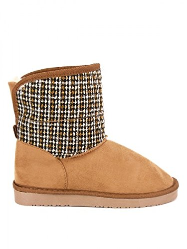 Cendriyon, Boots fourrées Camel UGTA Chiné Chaussures Femme Caramel