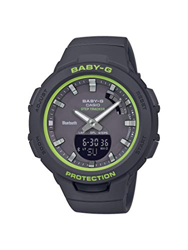 CASIO Damen Analog-Digital Quarz Uhr mit Harz Armband BSA-B100SC-1AER