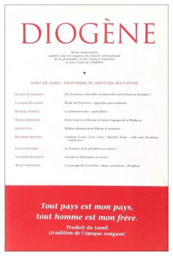 Diogène, N° 210, Avril-Juin 2 : D'est en ouest : frontières et identités mouvantes par Vladimir Kolossov
