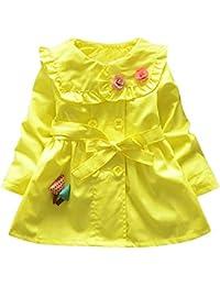 f7ec7da3d Amazon.co.uk  Yellow - Coats   Jackets   Baby Girls 0-24m  Clothing
