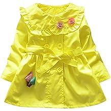 Styledresser Abbigliamento Bambino, Bambini 6 Anno Vestiti,Cappotto Dei Vestiti Della Giacca A Vento Dolce Incappucciato Delle Neonate Dell'Infantile Del Bambino