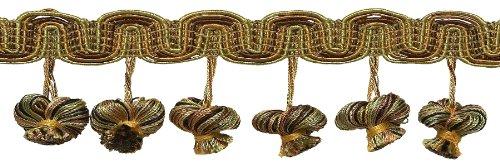 5Yard Value Pack braun gold 5,1cm Barock Zwiebel Quaste Fransen, Stil # tfb2pk Farbe: Golden Chestnut-5207, -