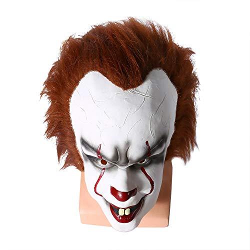 Fernando feliz Extrem simulierte Maske Stephen King Cosplay Halloween-Kostüm-Kostüm-Clown-Maske Gruselige Halloween-Maske für Erwachsene