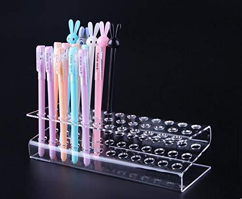 Feewerain Acryl-Stifthalter Kosmetik Pinsel Lidschatten Bleistift Lippenstift Display Stand Rack-Kristall Stift Organizer Stationery -