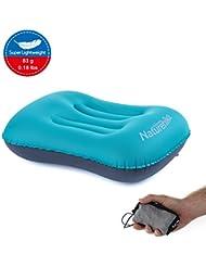 topnaca® Ultraligero Camping viaje inflable almohada, cómodo y portátil compacto, para senderismo, Backpacking, Picnic, deportes al aire libre, Peacock Blue