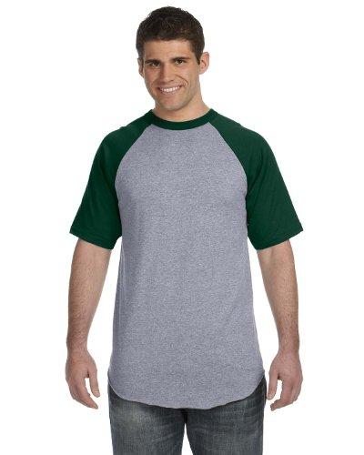 AugustaHerren T-Shirt - Athletic Hthr/Dk Green