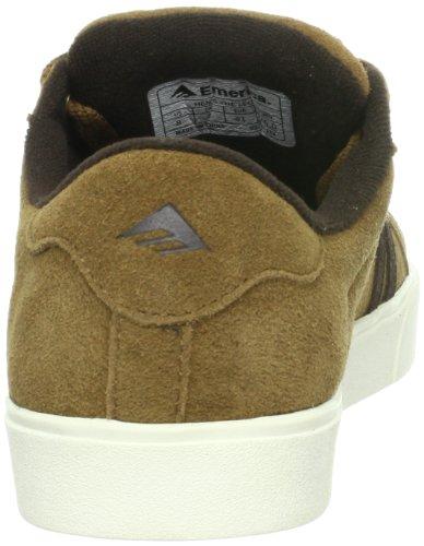 Emerica THE LEO 6102000065, Scarpe da skateboard unisex adulto Marrone (Braun (camel))