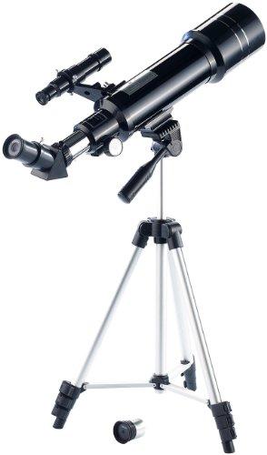 Zavarius Fernrohre: Linsen-Teleskop 70/400 mit 3-Bein-Stativ & Transport-Rucksack...