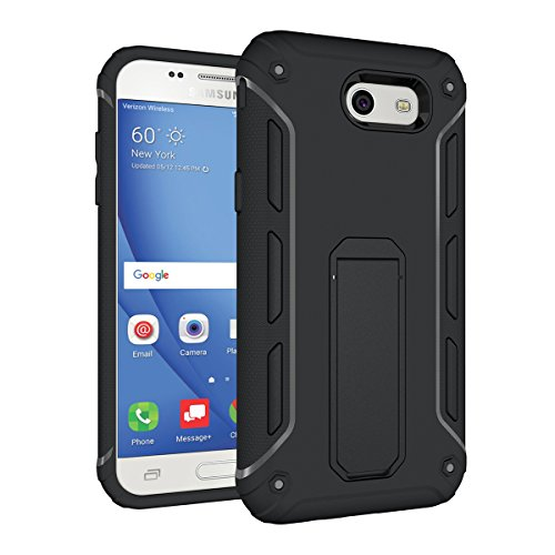 Galaxy A3(2017) Kickstand Coque,EVERGREENBUYING Ultra Slim léger Etui SM-A320F Cases Protective Housse Antichoc Hard Shell Back Case Pour Samsung GALAXY A3 (2017 Version Only) Bébé Rose Noir