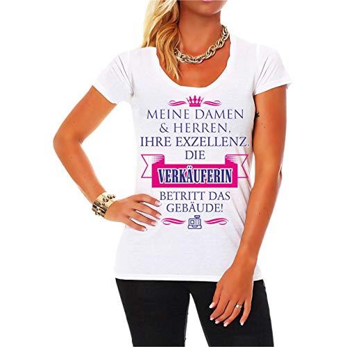 Spaß kostet Frauen und Damen Tshirt Ihre Exzellenz DIE VERKÄUFERIN Größe XS - 5XL