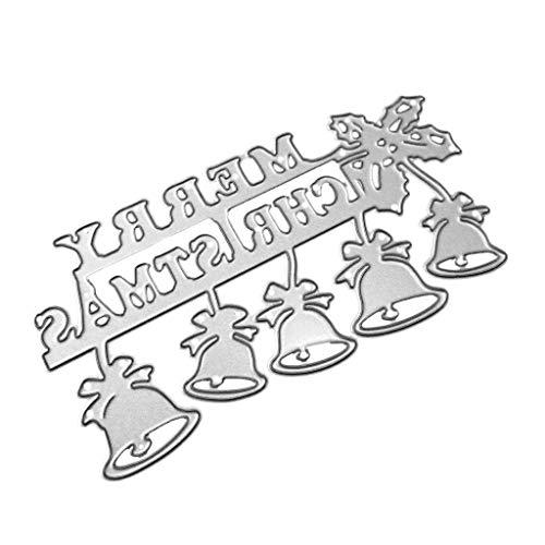Ruda Stanzschablone Weihnachtsglocke DIY Scrapbooking Prägung Papier Karte Dekoration Geschenk für Party Geburtstag Spiel Basteln Klasse Briefeinladung