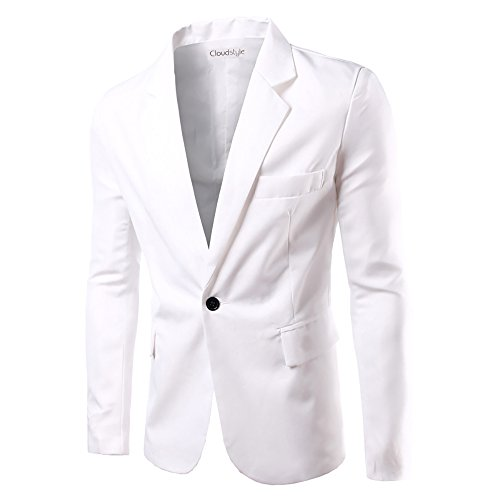 Men Notched Lapel Center-Vent One-Button Blazer