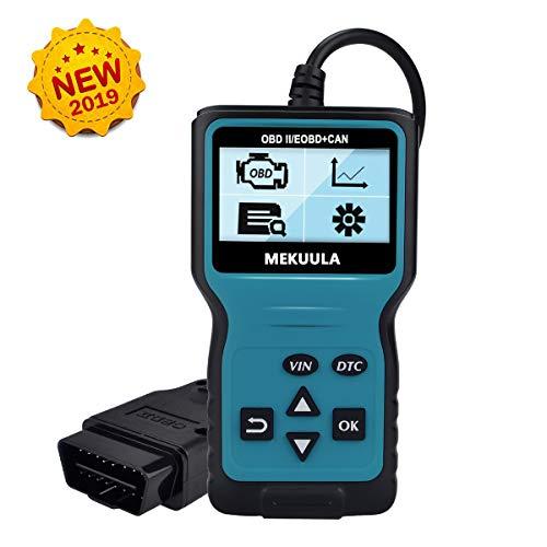 MEKUULA OBD2 Diagnosegerät, OBD Code Scanner Fehlercode-Lesegerät für alle Autos mit OBD2 / EOBD/CAN-Modi und 16-Pin OBDII-Schnittstelle nach 2003