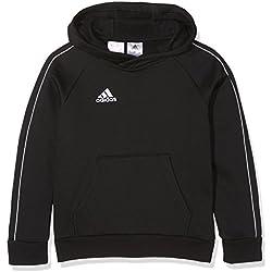 adidas CORE18 HOODY Y Sweat-Shirt, Enfant, Noir/Blanc, 164