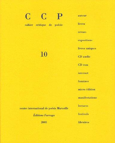CCP, N° 10, 2004/2 : Pascal Quignard (1CD audio) par Claude Royet-Journoud