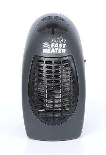 Fast Heater Visto en TV Calefactor Cerámico 400W Calentador Eléctrico, Portátil y Compacto con Termostato...