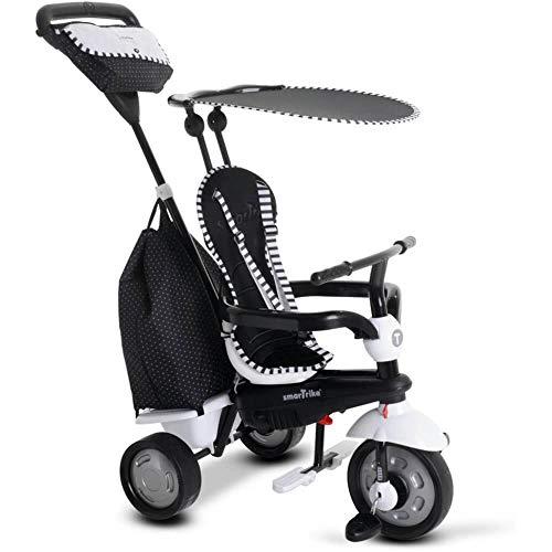 smarTrike 6952400 - Glow Touch Steering 4 in 1 Dreirad, schwarz/weiß