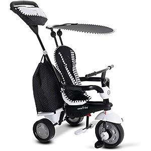 SMARTRIKE 6952400-Glow Touch Steering 4en 1Triciclo, Negro/Blanco
