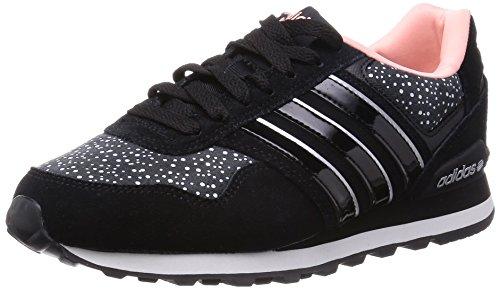 quality design 07df8 99baf adidas 10K W - Zapatillas deportivas para mujer, color negro  blanco   plata, talla 38 23