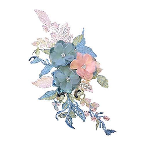 DaoRier Tridimensional Flor Patch Stickers Decoración