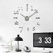 Quartz 3d Wall Clock Acrylic Sticker Wall Clock - Silver