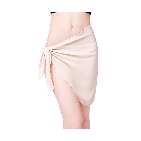 Involucro da bagno bikini con copertura in bikini in chiffon sexy di Sarong stampato da donna 5 spesavip